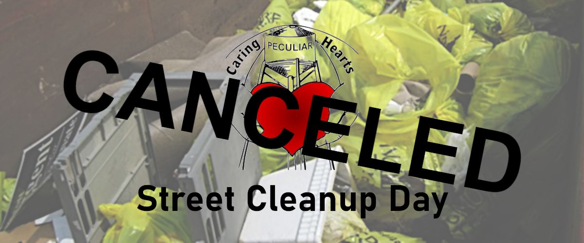 Canceled - Caring Hearts of Peculiar Street Cleanup Day